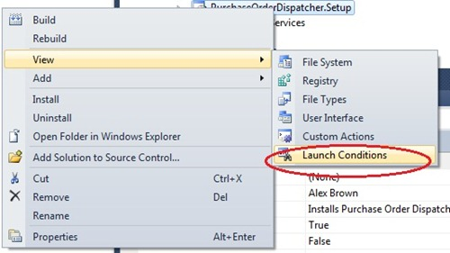 Right click on your deployment project in solution explorer