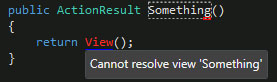 resharper cannot resolve view